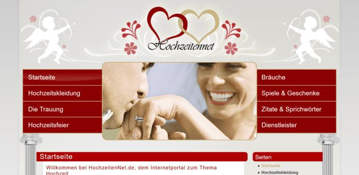 Startseite von HochzeitenNet