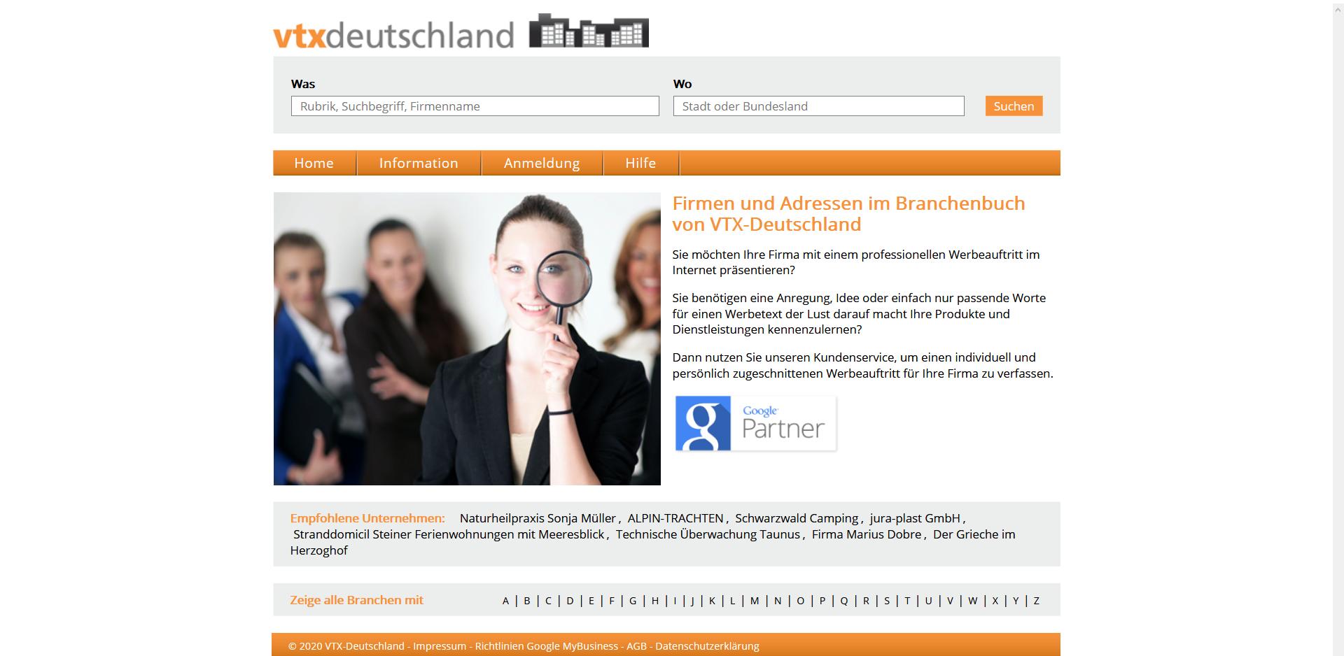 Branchenbuch VTX