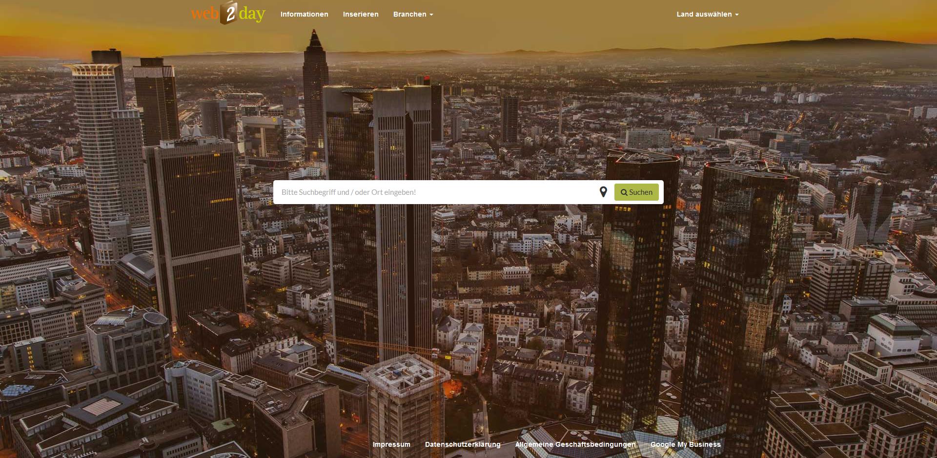 Homepage von web2day